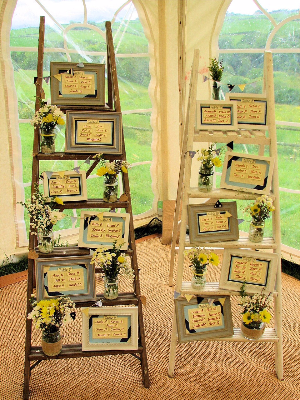Rustic Ladder Displays