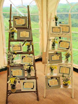 Rustic Ladder Displays
